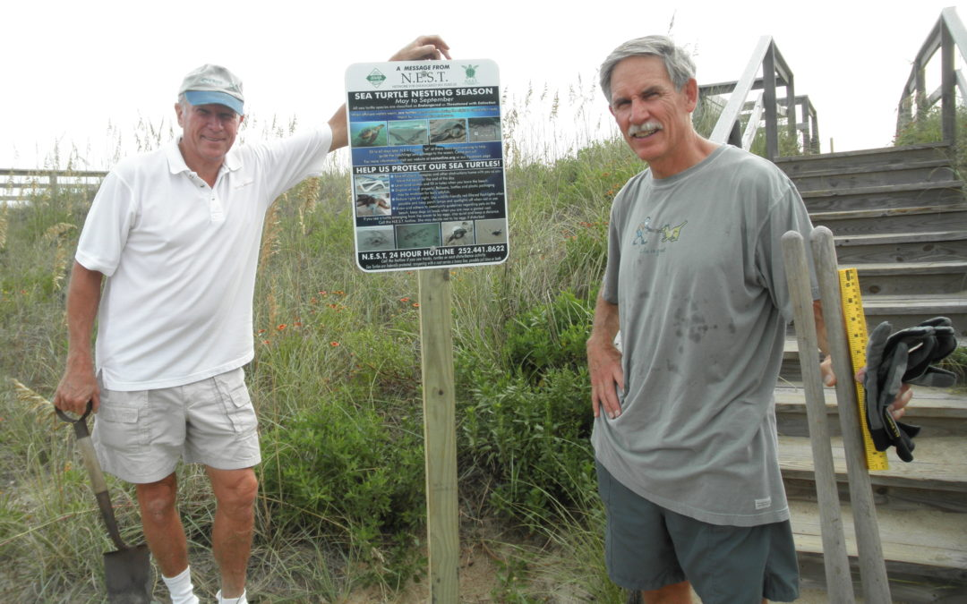 N.E.S.T. Volunteers and Groups work together to create new Nest Signs
