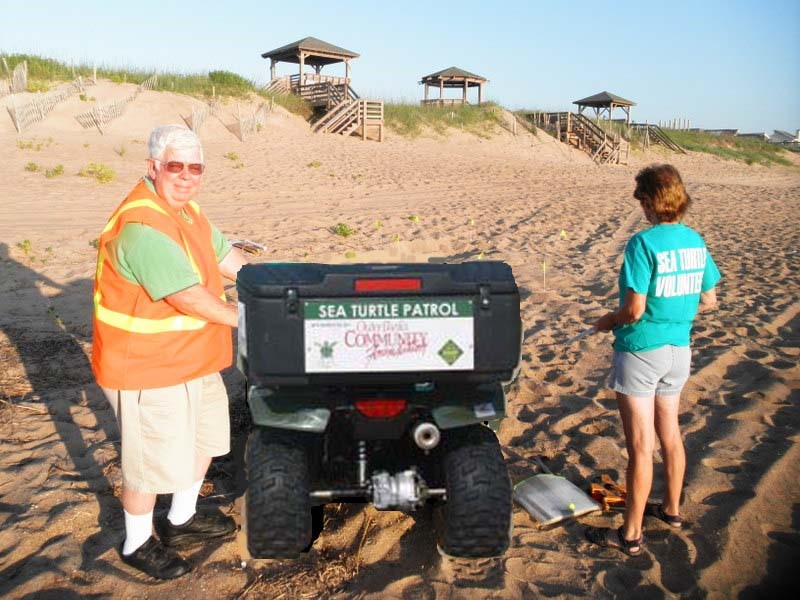 Outer Banks Community Donated ATV with N.E.S.T. volunteers