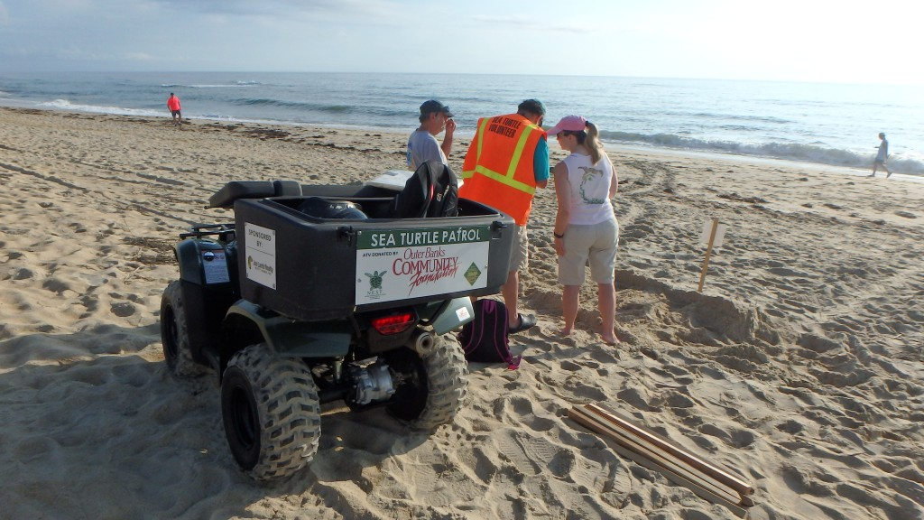 Nest responders confer with Barry the ATV driver