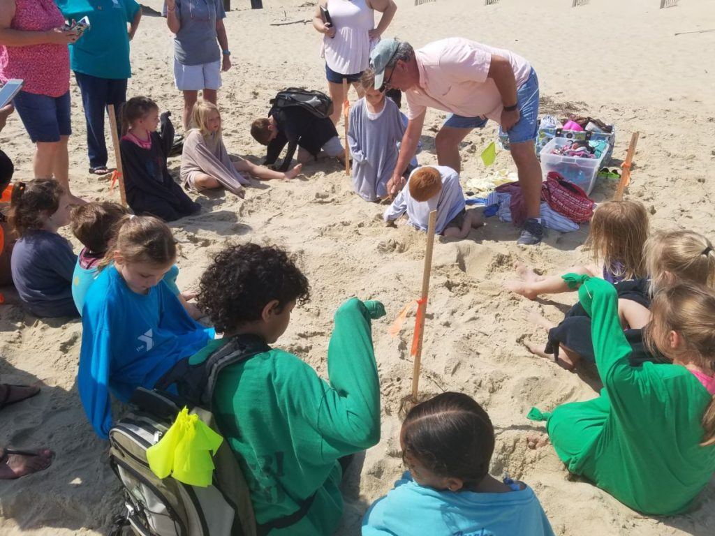 Rick B adds educational excitement at Jennettes Pier