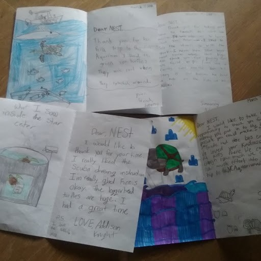 Thank you to NEST from Kitty Hawk Elementary School 4th graders!