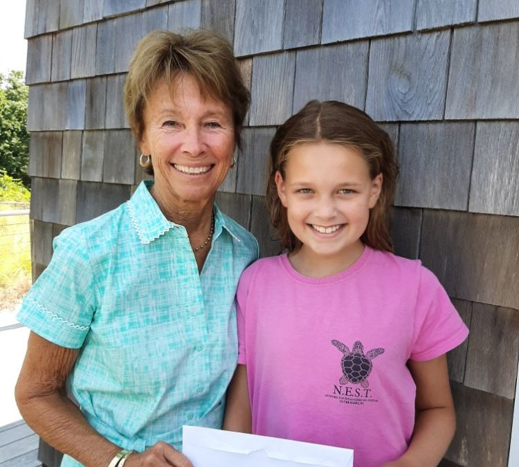 N.E.S.T. Thanks 6th Grader, her family and friend for generous donation!
